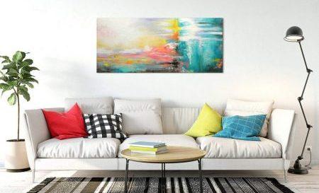 decoración con cuadros abstractos modernos